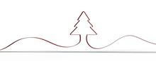 Merry Christmas Card Modern 3d Minimal Tree