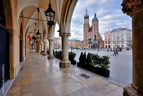 Old Town square in Krakow, Poland - fototapety na wymiar