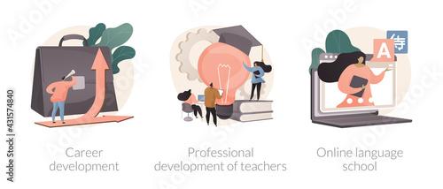 Fototapeta Successful career path abstract concept vector illustrations. obraz