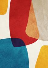 Organic Geometric Abstract Art, Texture, Earth Tones, Circles, Geometric Shapes, Beige, Brown, Yello