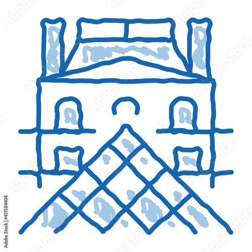 Obraz na plátně french louvre doodle icon hand drawn illustration