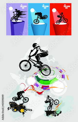 Sport concept for internet banners, social media banners, headers of websites, vector illustration  - fototapety na wymiar