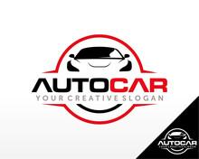 Sport Car Logo. Automotive, Car Showroom, Car Dealer Logo Design Vector