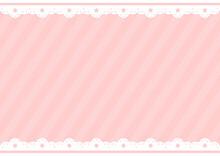 背景 星レース ピンク ボーダー