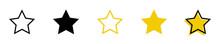 Conjunto De Iconos De Estrellas Amarilla Y Negro