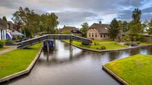 Canals In Giethoorn Village