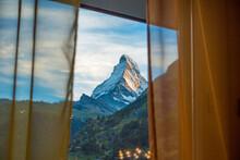 Switzerland, Matterhorn Through A Window
