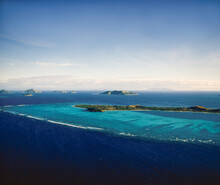 Aerial Of A Group Of Small Pacific Islands