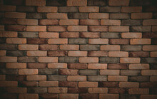Old Grunge Brick Wall Background, Common Sight In The Local City. Use For Design And Texture. Vintage Tone.