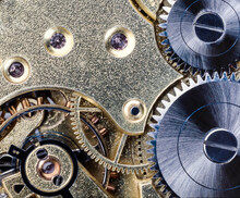 Close Up Of Watch Cogs