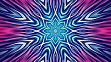 Colorful Floral Abstract Background. Calm Animated Radial Pattern. Looped Video.