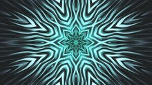 Blue Floral Abstract Background. Calm Animated Radial Pattern. Looped Video.