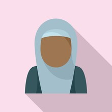 Immigrant Woman Icon, Flat Style