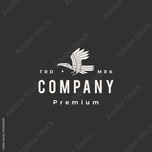 Fototapeta premium toucan hipster vintage logo vector icon illustration