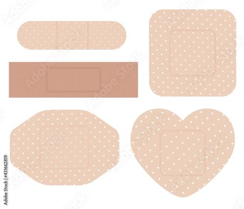 Fényképezés Shape bandage plaster