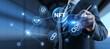 NFT Non-fungible token digital crypto art blockchain technology concept