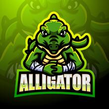 Alligator Mascot Esport Logo Design