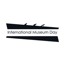 International Museum Day Poster Background Danish Museum Of Contemporary Art In Ishoj Modern Logo Icon Emblem Abstract Geometric Design Style Fashion Print Clothes Apparel Greeting Card Flyer Banner
