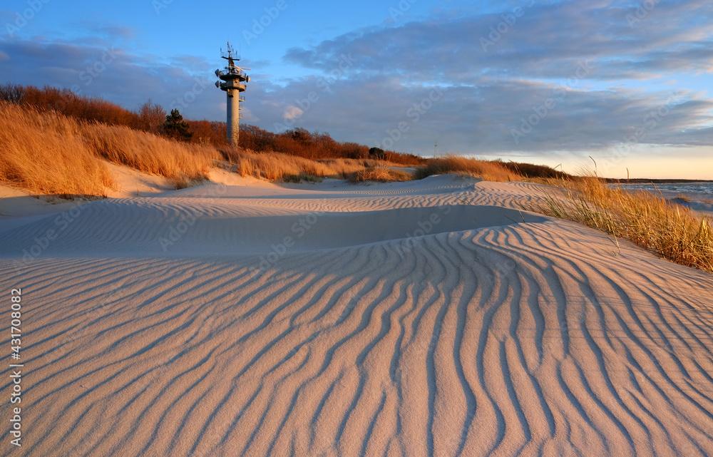 Fototapeta Wydmy na wybrzeżu Morza Bałtyckiego.