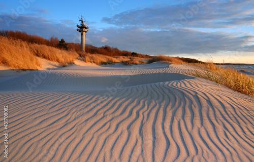 Fototapeta Wydmy na wybrzeżu Morza Bałtyckiego. obraz