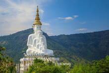 Five Buddhas At Wat Phasornkaew Temple, Khao Kho In Phetchabun Province, Thailand