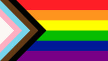 LGBTQ Pride Flag Vector. Banner Flag For LGBT, LGBTQ Or LGBTQIA  Pride.