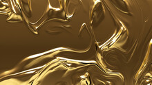 Gold, Opulent, Metallic Texture. A Golden Surface For Luxurious, Smooth Backgrounds.