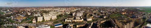 Obraz Polska Kalisz panorama osiedla - fototapety do salonu
