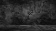 Leinwandbild Motiv Old black background. Grunge texture. Dark wallpaper. Blackboard Chalkboard Concrete