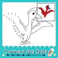 Dinosaur Kids Connect Dots Worksheet Children Counting Number 1 20 Quetzalcoatlus