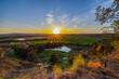 Sonnenuntergang in der Hölle von Rockenberg