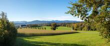 Famous Pilgrimage Chapel Wilparting, View From The Salzburg Highway Irschenberg, Autumn Landscape Bavaria