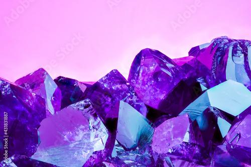 Fototapeta Amethyst bright pink purple colorful background