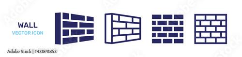 Fotografija Brick wall icon vector illustration