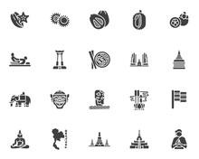 Thai Culture Vector Icons Set