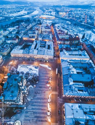 Old town of Nowy Sacz - fototapety na wymiar