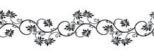 Ornamental Floral Vine Border Design