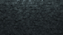 Polished, Diamond Shaped Wall Background With Tiles. Concrete, Tile Wallpaper With Futuristic, 3D Blocks. 3D Render