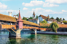 Lucerne City In The Daytime, Switzerland