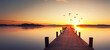 canvas print picture - Sonnenaufgang am See