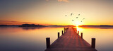 Fototapeta Most - Sonnenaufgang am See