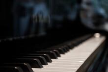 A Piano Keys Close Up