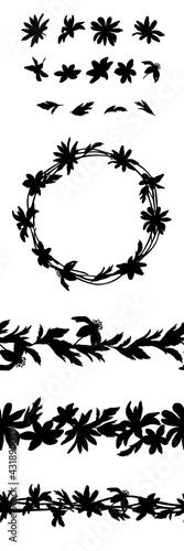 Billede på lærred Vector set of botanical elements