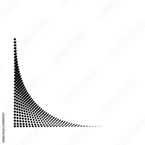 Linear halftone dots Design .elements for your design. vector illustration Wall mural