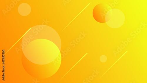Obraz na plátně Abstract orange geometric background with orbs