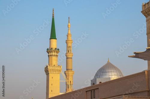 Fotomural Ottoman Turkish style minaret in Medina