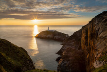 Sunset On South Stack Lighthouse