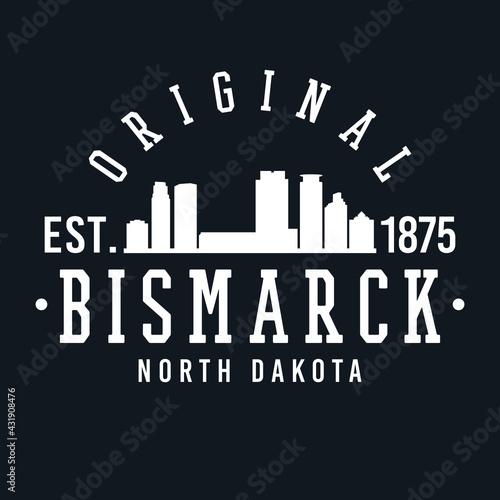 Bismarck, ND, USA Skyline Original Fotobehang
