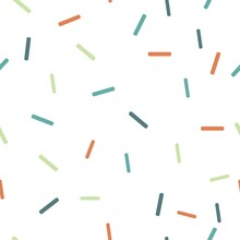 Scandinavian Style. Abstract Background Of Orange, Blue, Light Green, Imitating Sweet Sprinkles In The Form Of Colored Sticks. Background For Wall Decoration In The Nursery, Wallpaper, Textiles.