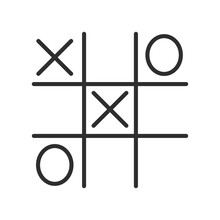 Game Icon Line Symbol. Premium Quality Isolated Tic Tac Toe Element In Trendy Style